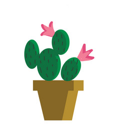 Painting a cactus plants that looks similar to vector