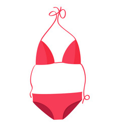 Pink bikini swimsuit beach vector