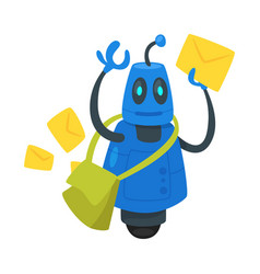 post service robot vector image
