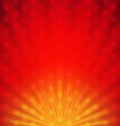 Red sunburst card vector