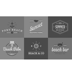 Set of Beach Sea Bar Elements and Summer can be vector image