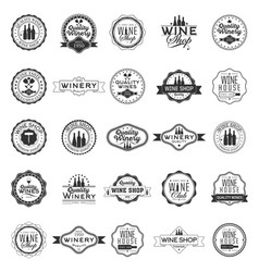 set of logos for its wine business vector image
