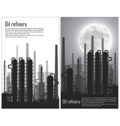 Set of Oil and gas refinery flyers vector image