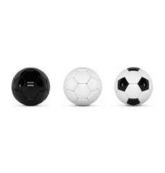 set of realistic soccer balls or football ball on vector image