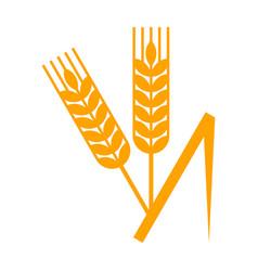 sheaf wheat vector image