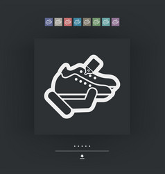 Shoes store vector
