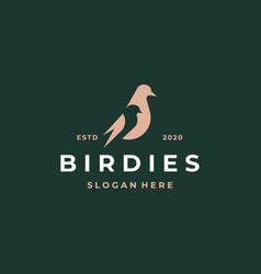 Simple bird logo icon vector