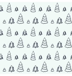 Simple cartoon seamless patterns with cute trees vector