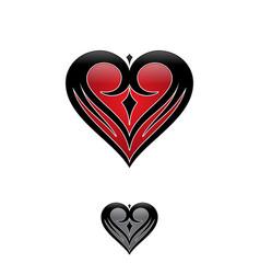 simple love tribal vector image