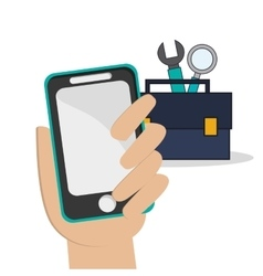 smartphone social network icon vector image