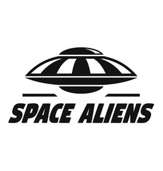 Space aliens logo simple style vector