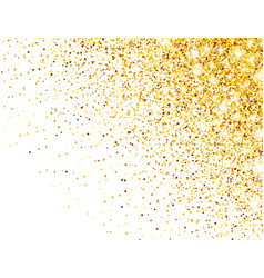 sparkling golden glitter on white vector image