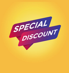 special discount tag sign vector image
