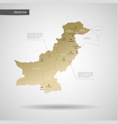 stylized pakistan map vector image