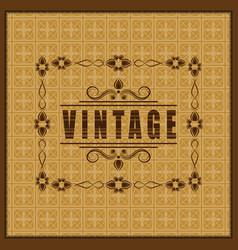 the vintage frame vector image