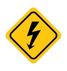 Traffic yellow signal road isolated icon vector