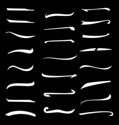 Underline stroke set handmade stroke lines vector