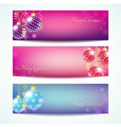 Vintage Christmas card banner vector image