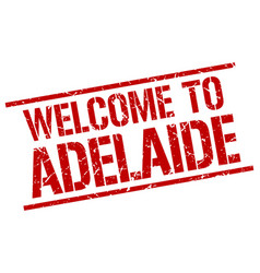 Welcome to adelaide stamp vector