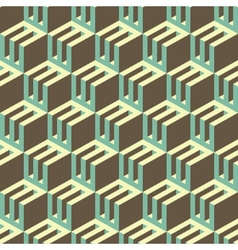 3d blocks structure background Seamless geometric vector image vector image