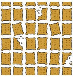 Biscuit background vector image
