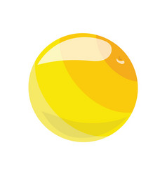 cartoon yellow ball toy rubber ball for children vector image