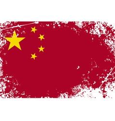 china grunge flag vector image