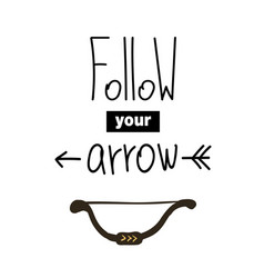 follow your arrow lettering vector image