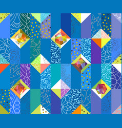 geometric abstract seamless pattern patchwork vector image