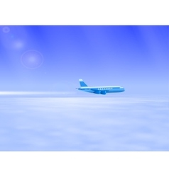 the plane in the sky vector image