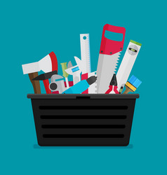 workspace carpenter tools trendy flat icon vector image vector image