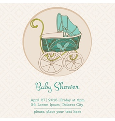 Baby Shower or Arrival Card vector image
