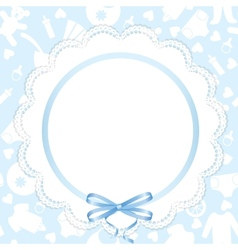 card with lace ribbon vector image