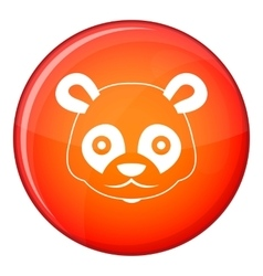 Head of panda icon flat style vector image