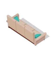 Isometric Beige Sofa vector image vector image