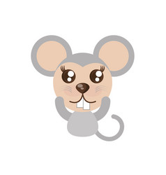 kawaii mouse animal toy vector image