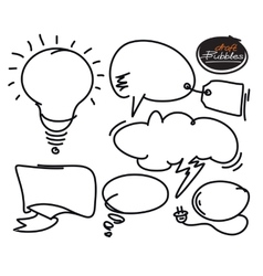 Set of comic bubbles and elements with shadows vector image vector image
