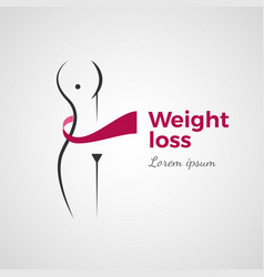 weight loss concept vector image