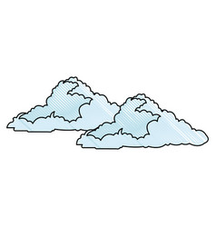 Cloud floats cool single weather icon vector