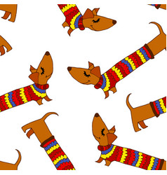colored dog background vector image vector image