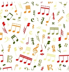 colourful music signs and note on white vector image