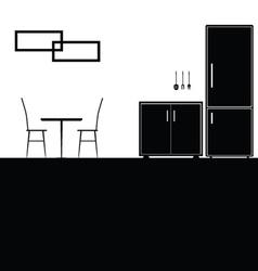 kitchen black vector image