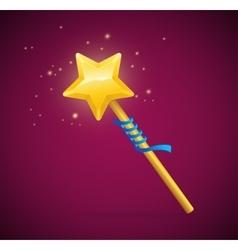 Magic Wand with Shining Star vector image vector image