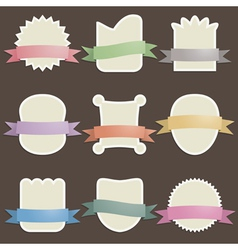 plaques with ribbons vector image vector image