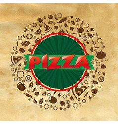 Vintage Pizza Poster vector image vector image