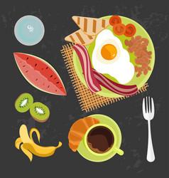 Banner of breakfast vector