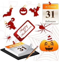 Collection for Halloween small vector image vector image