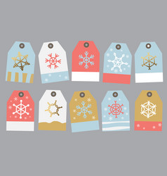 collection tag on the gift vector image vector image
