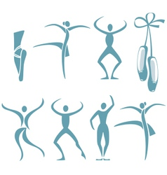 dance poses vector image vector image