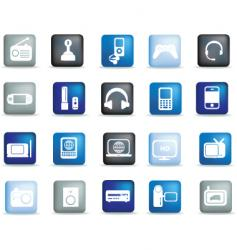 electronics buttons vector image vector image